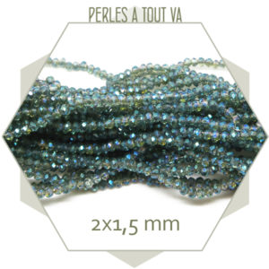 perles brillante bleu