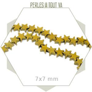 perles étoile hématite doré