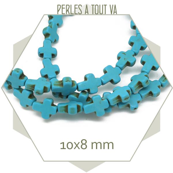 perles howlite forme croix