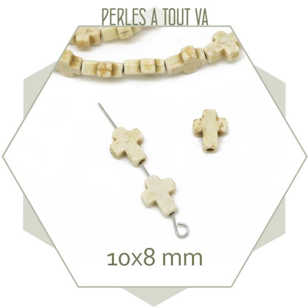 perles croix howlite