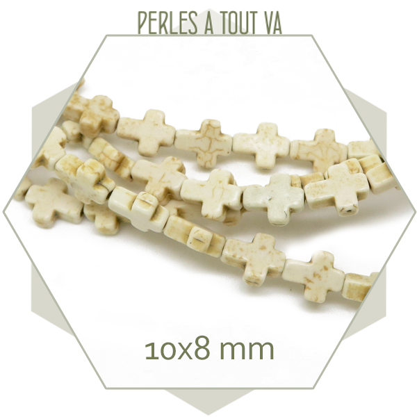 perles croix pierres naturelles