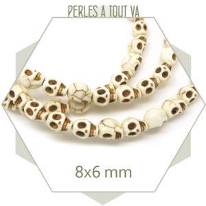 perles tête de mort en pierre