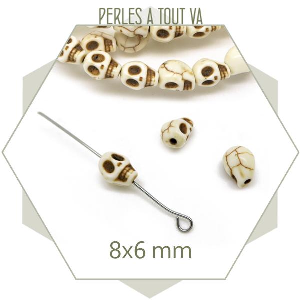 perles tete de mort