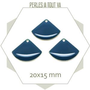 pendentifs émaillés bleu