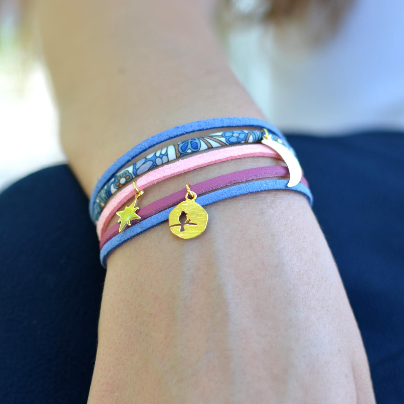 idée bijou bracelet liberty et suedine