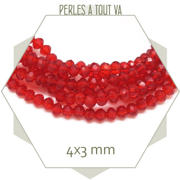 rang de perles verre rouge