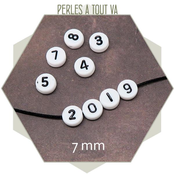 vente perles chiffres pour bijoux