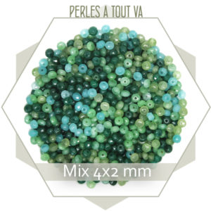 mix de perles de jade vert