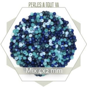 mix de perles de jade bleu