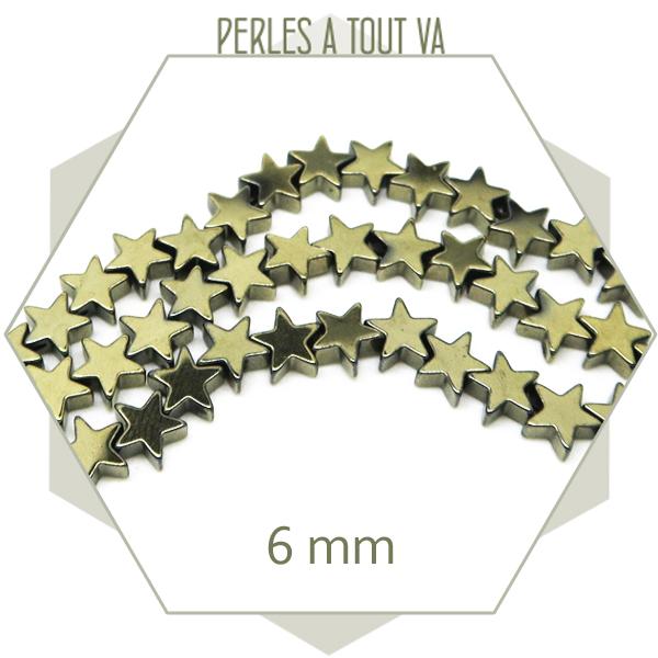 perles étoiles en hématite