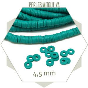 Perles heishi vert emeraude
