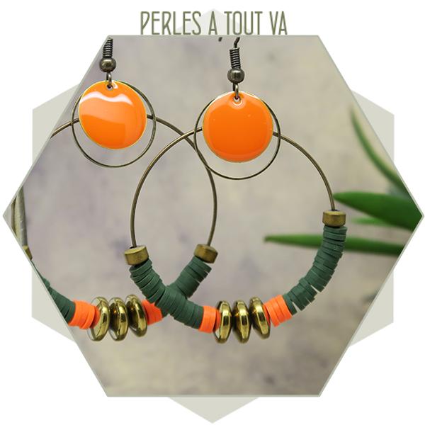 Création créoles perles Heishi