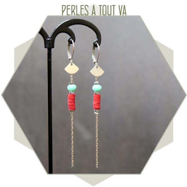 idée boucles d'oreilles perles heishi