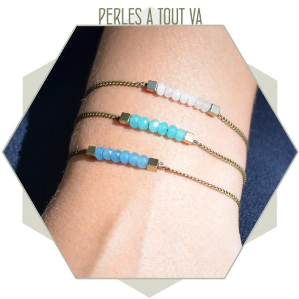 idée création bracelet perle jade