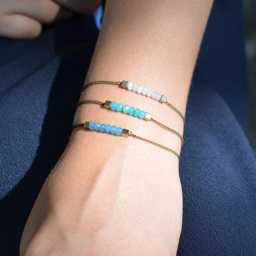 création bracelet perle jade