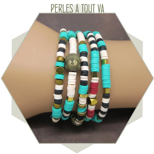 bracelet perles Heishi