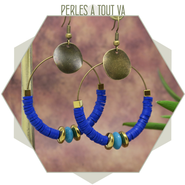 Boucles d'oreilles perles heishi