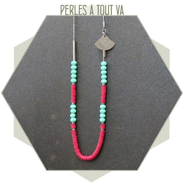 idée sautoir perles heishi