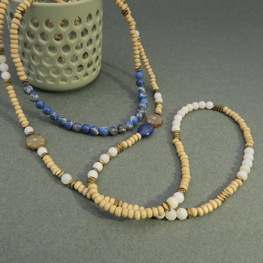 Idée bijou cordon perles
