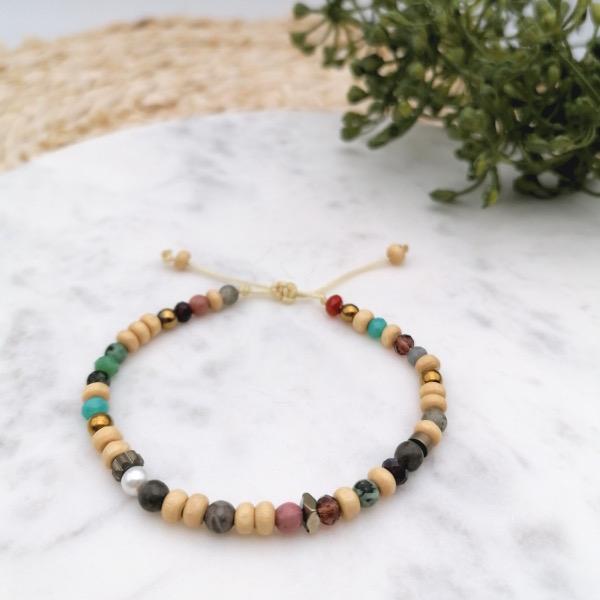 idée bracelet perles variées