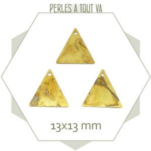 breloque triangle laiton brut