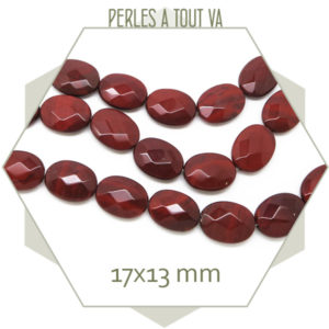 perles cabochon jaspe rouge