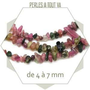 perles chips tourmaline