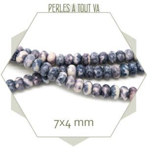 perles rondelle faience gris