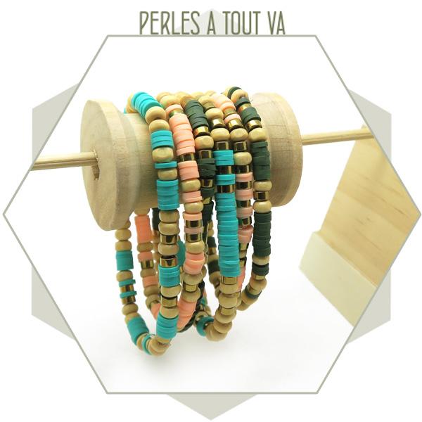 idée bracelet été perles heishi