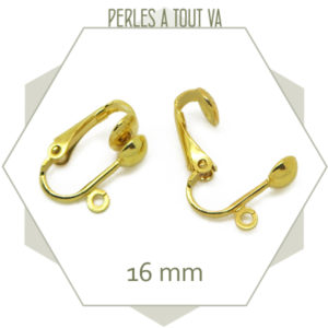 Clip pour boucles d'oreilles or