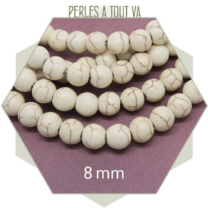 Vente perles howlite creme
