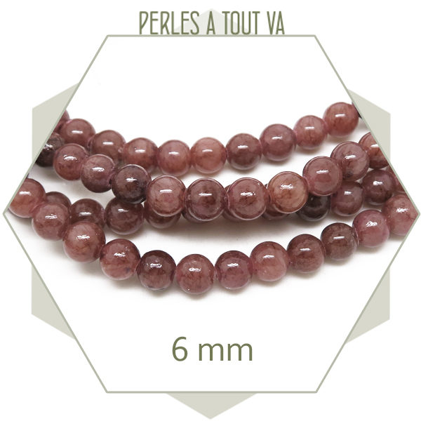 Perles jade ronde