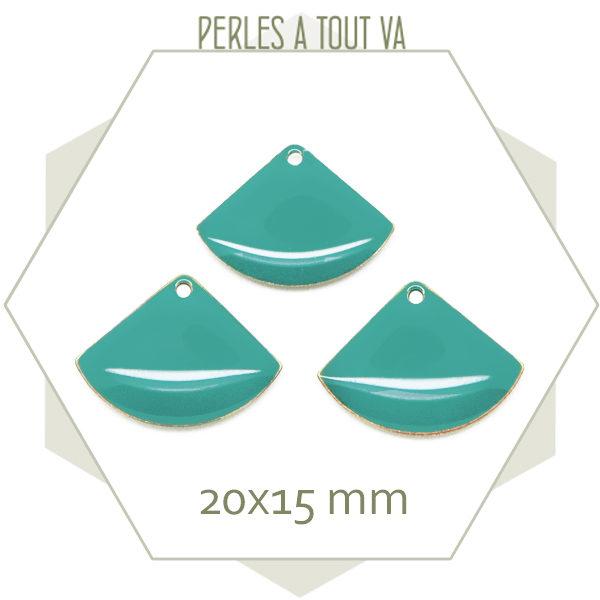 Fournitures sequins éventails turquosie