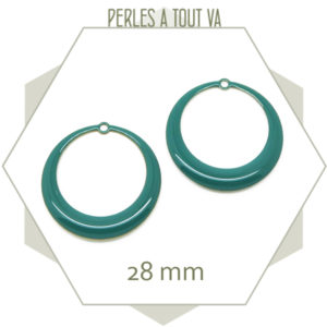 creoles emaillees turquoise