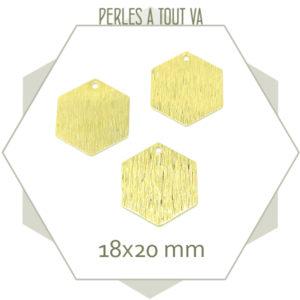 Fournisseur breloques hexagones dorées