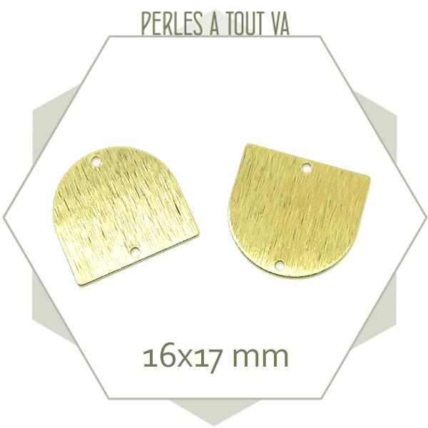 Boutique connecteur demi ovale doré