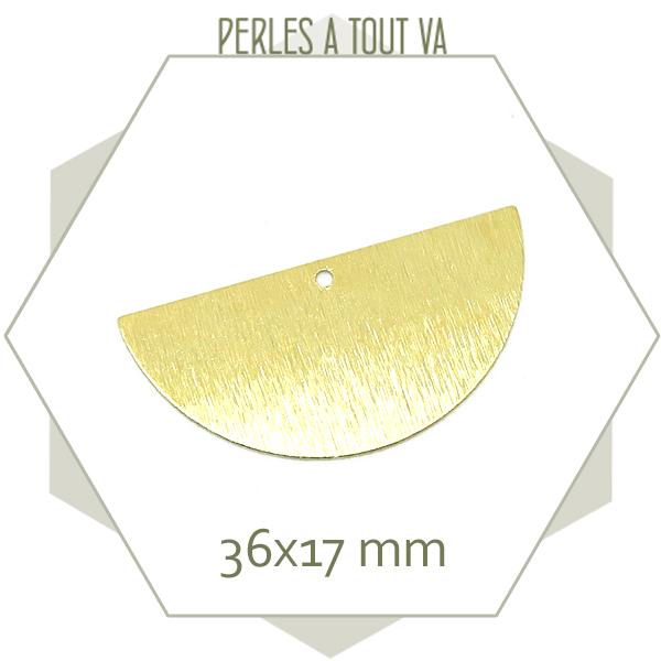 Fournisseur breloques demi cercles dorées