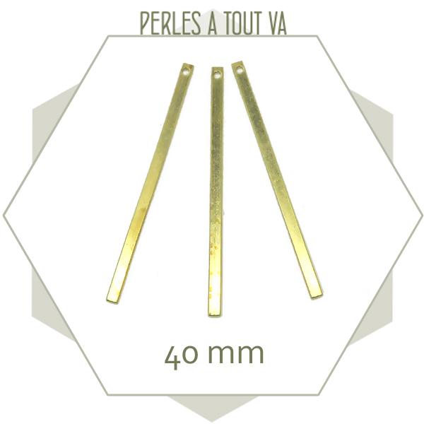 Vente breloque batonnet dorée
