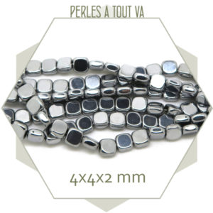 vente perles hématite carrées