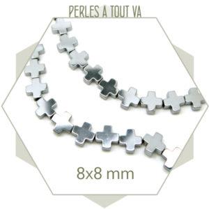 Vente perles croix en hématite