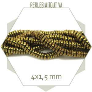boutique perles heishi ondulées dorées