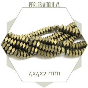 Perles hématite polygone en gros