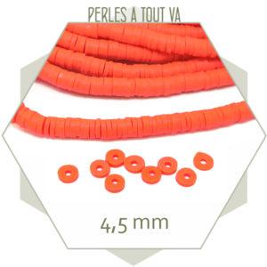 Vente perles heishi rouge