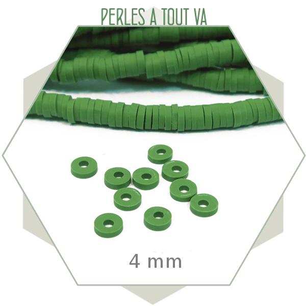 Boutique perles heishi vert