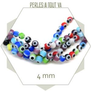 Rang perles oeil turques