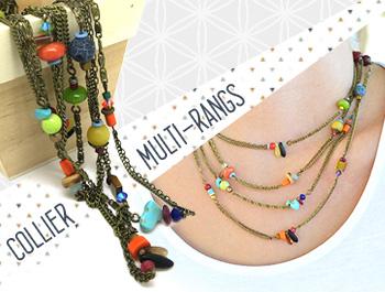 Comment créer collier multi rang