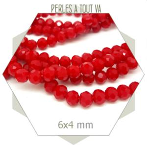 grossiste perles donut rouge