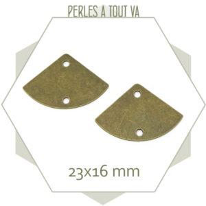 vente connecteur bronze eventail