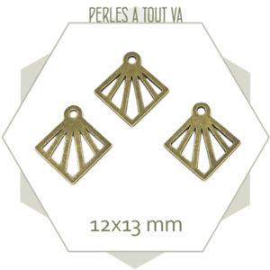 breloque losange bronze