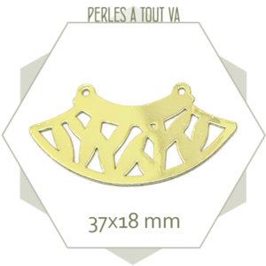 connecteur motif laurier doré